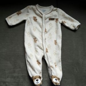 Carter's Tan 0-3months Baby Boy Teddy Bear Pajama